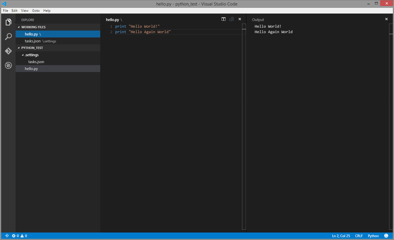 Running Python within VSCode